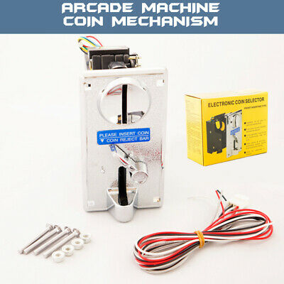 Arcade Machine Pinball Coin Mame Electronic Coin Slot Insert Mechanism