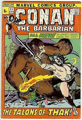 Conan the Barbarian #11 (Marvel giant 1971, fn 6.0) by Roy Thomas & Barry Smith