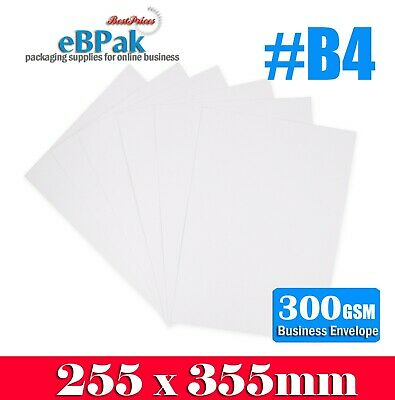 50x Card Mailer B4 255x355mm 300gsm Business Envelope Tough Bag Replacement
