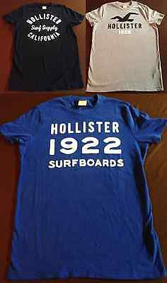 NWT Men's Small Hollister by Abercrombie Lot of 3 T Shirt SM Ship Worldwide