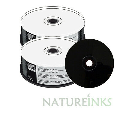 50 Mediarange Black Bottom CD-R Full Face White Printable 52x 700MB MR241