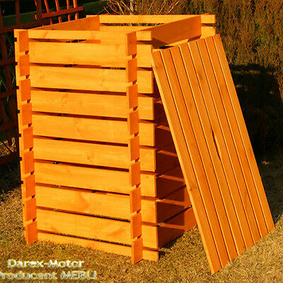 GREAT PRICE 1000L wooden COMPOST with COVER 1 000L painted COMPOSTER COMPOSTING