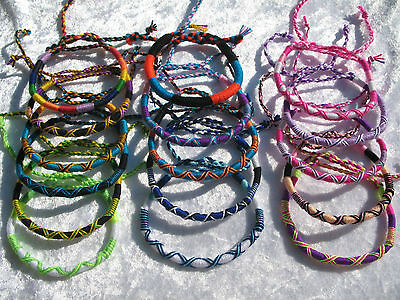 Round Friendship Bracelet Wristband *choose colour & design*
