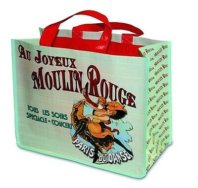 Large New Reuseable Shopping Bag Vintage Paris Moulin Rouge Dancing Scene