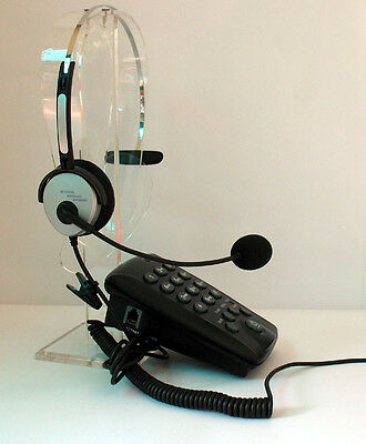 Professional headset with Key Pad & Mute Redial Flash for small & Home office