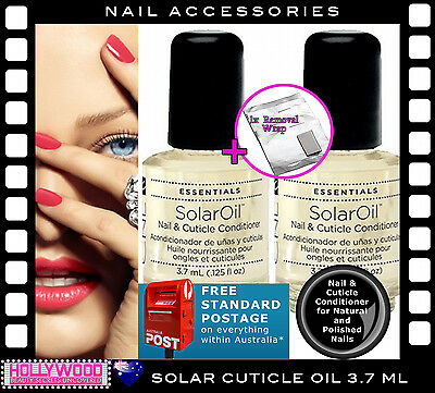Creative Nail Design Nail Cuticle Solar Oil 2-pack 3.7ml + Removal Wrap