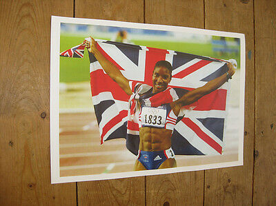 Sports Memorabilia Other Olympic Memorabilia Denise Lewis Gb Olympic Great New Poster