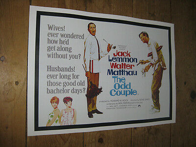 The Odd Couple Walter Matthau Repro POSTER