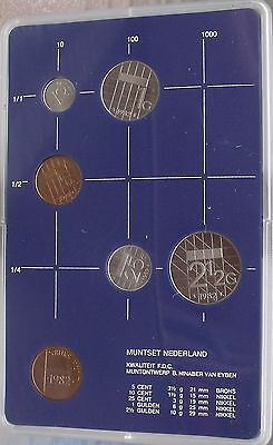 Gem Uncirculated Netherlands Mint Issued 1982 6 Piece Set~Scarce~Free Shipping~