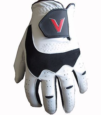 Cabretta Leather Gents Mens Golf Glove Small Medium Large Extra Large XL V Logo