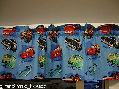 Disney Pixar Cars Blue Childs Curtain Valance