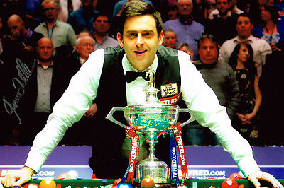 Ronnie O'Sullivan World Snooker Champion SIGNED 12x8 Photo AFTAL COA Autograph