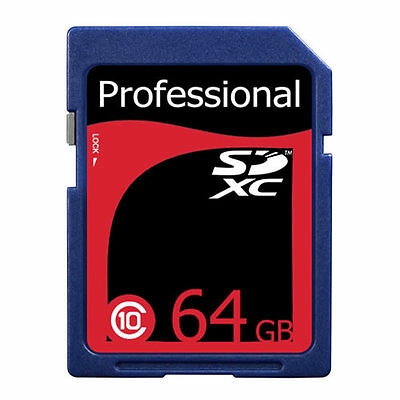 Lot of 5 Professional 64GB High Speed SDXC SDHC SD XC Class 10 Flash Memory Card