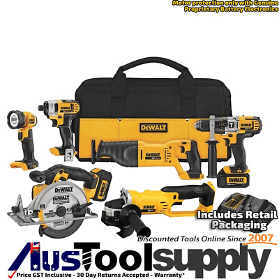 Dewalt Xr 20V Max / 18V Cordless Lithium Ion 6 Tool Combo Kit