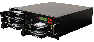 1-4 SATA Rackmount Hard Disk Drive (HDD/SSD) Duplicator/Sanitizer Copy Station