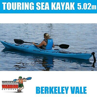 FISHING KAYAK Rudder 4.3m Sit on TOP In-built Seat with Trolley Sea Touring