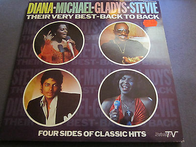 DIANA MICHAEL GLADYS STEVIE - THEIR VERY BEST - BACK TO BACK - 2er LP FOC