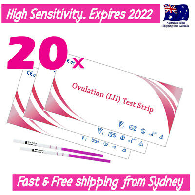 20x Ovulation (LH) Tests Urine Strips GET PREGNANT SOONER FERTILITY OPK Kit