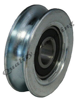 Sliding gate wheel pulley wheel 60mm Round groove steel wheel R U shape