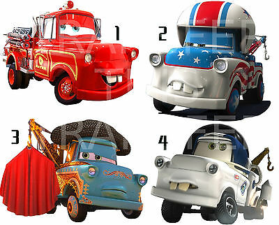 Cars 2 Sticker Wall Deco Decal Disney Mater's Tall Tales Fire Enigne Lot C7