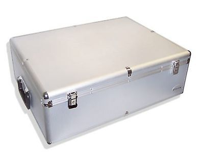 ALU ALUMINIUM LOOK KOFFER für 1000 DVD/CD/BLURAY 1000er DJ BOX/CASE FÜR CDs DVDs