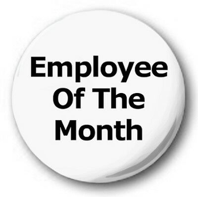 Blue BUTTON PIN BADGE 25mm 1 INCH Employee of the Week