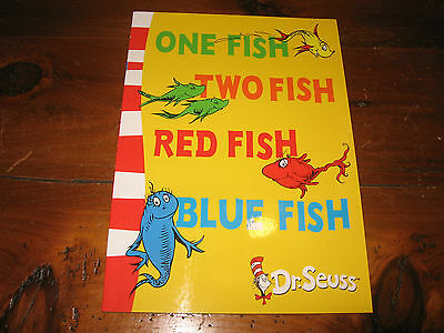 One Fish Two Fish Red Fish Blue Fish By Dr Seuss Softcover Brand New