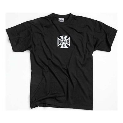 West Coast Choppers Original Cross T-Shirt - Black With White Logo **brand New**