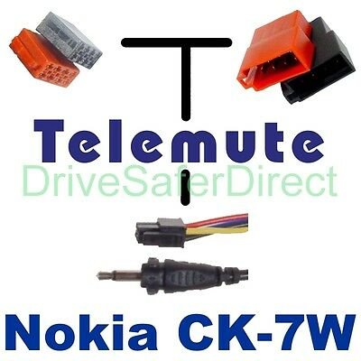 T79800 Telemute Lead for CK-7W: ISO models of Audi