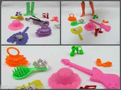 10x BARBIE SINDY DOLL CLOTHING ACCESSORIES HANDBAG SHOES BOOTS HAT MIRROR UKSELL