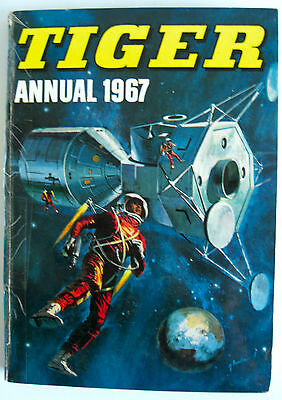 Rare Book - Tiger Annual 1967 - Unclipped - Roy Of The Rovers, Johnny Cougar Etc