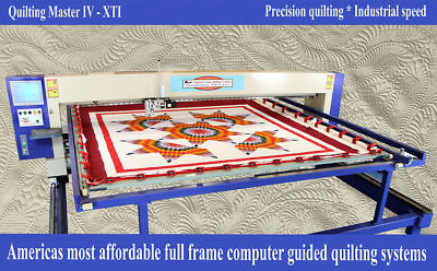 New Quilting Master IV XTI Computer Guided Full Frame Quilting Machine - LTE