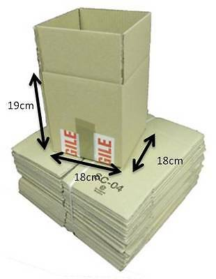 Pack of 200 Single Walled Cardboard Mailing Boxes Brown 19 x 18 x 18cm