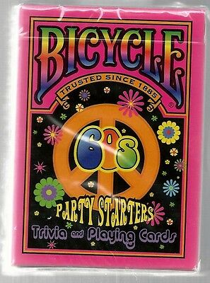 NEW BICYCLE PARTY STARTERS TRIVIA & PLAYING CARDS 60'S EDITION