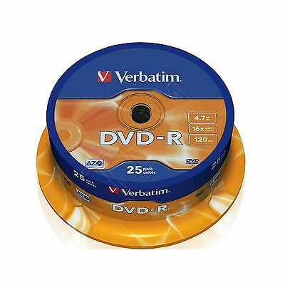 Verbatim DVD-R 4.7GB (16x) 43522 - 25 Spindle