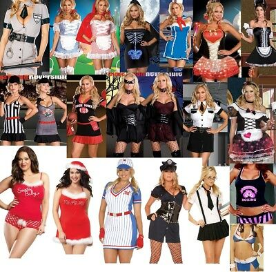 New Plus Size Adult Women Costume 1X/2X  3X/4X Q Queen Size Halloween Lingerie