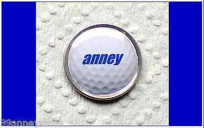 anneys ~ GOLF  BALL  MARKER - * your OWN PERSONALISED MARKER!! *  ~