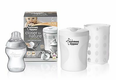 Tommee Tippee Closer to Nature Single Bottle Travel Steriliser BPA Free