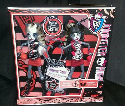 Monster High Purrsephone & Meowlody Werecat Twin Sisters Dolls Exclusive New
