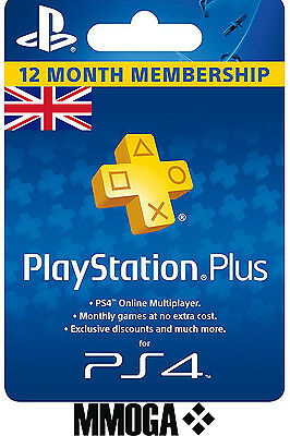 PlayStation Plus - PSN 365 Days 1 Jahr/Year 12 Months Membership Code Key - UK