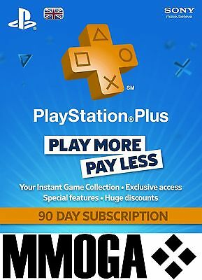 PlayStation Plus - PlayStation Network 90 Tage (3 Monate) PSN Card [UK] [NEU]