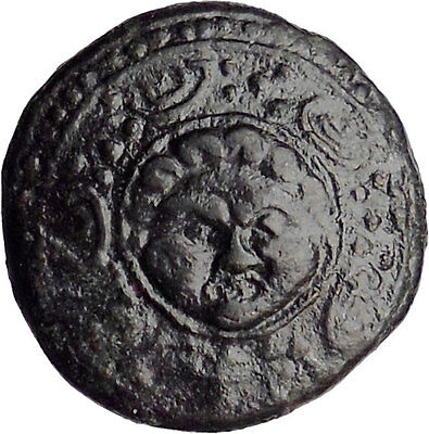 Macedonia 288BC Ancient Greek Coin Shield w Gorgon's head Helmet i30222