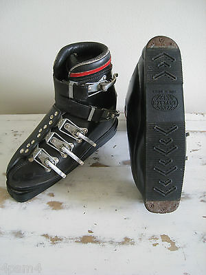 VINTAGE KOFLACH Ski Boots Leather Buckle 1960'S Era