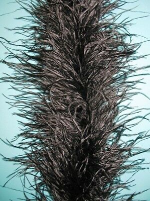 4 Ply OSTRICH FEATHER BOA - BLACK 2 Yards Costumes Boas