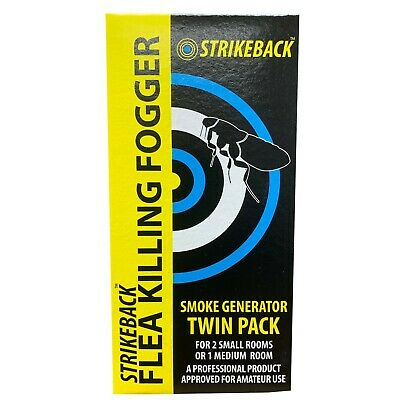 Strikeback Insect (Bedbugs, Dust Mites, Ants) and Flea Killing Fogger Twin Pack