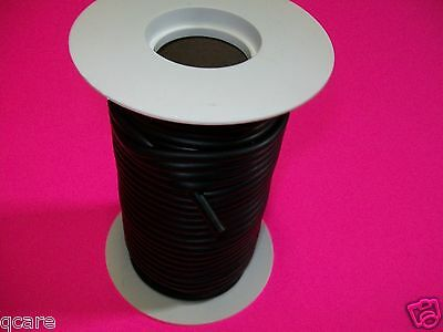"50 ft Reel 1/8"" ID x 1/16 w  x 1/4 O.D Surgical Black Latex Rubber Tubing feet"