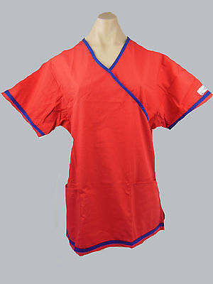 Womens Medical Scrubs Crossover Top / Uniform Nurse/ Vet/ Dental BN- Choose Size
