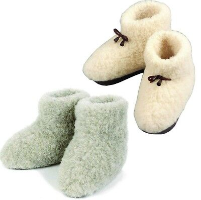 COZY FOOT - Merino's Womens Mens Sheep Wool Sheepskin size 3 - 11 Slippers Boots