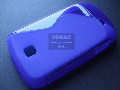 Funda Flexi Gel Samsung Galaxy Mini S5570 Azul Lisa S-Line Protector Case