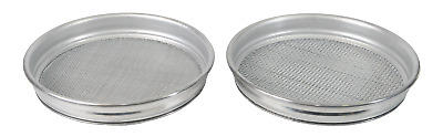 "Gold Sieve Set Of Two Aluminium Metal Mesh Sieves 13""/33.5Cm X 2""/5.5Cm"